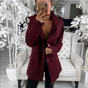 ekAttire | AMBER Spring Jacket in Wine